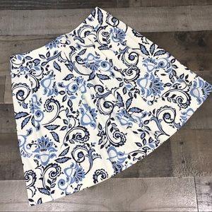 Ann Taylor Loft  Floral Paisley Print Skirt Size 0